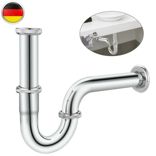 Röhrensifon Röhrengeruchverschluss Geruchverschluss Chrom WaschbeckenTraps