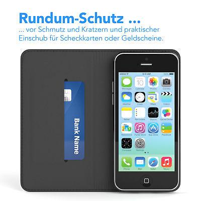 Tasche für Apple iPhone 5C Cover Handy Schutz Hülle Case Etui Schwarz