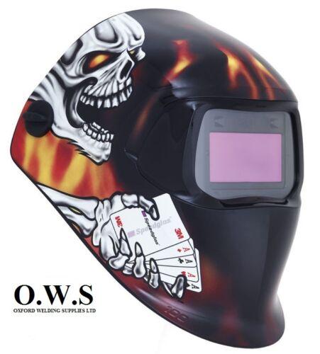"""3M Speedglas 100V Series Welding Helmet /""""Aces High/"""" Variable Shade 3 8-12"""