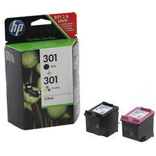 original hp 301 black colour combo ink cartridge pack for hp deskjet 1050a - Hp 301 Tri Color Ink Cartridge
