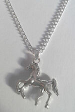 """Silver Horse Pendant - 16"""" or 18"""" Chain - Necklace Gift - For Women - Girls"""