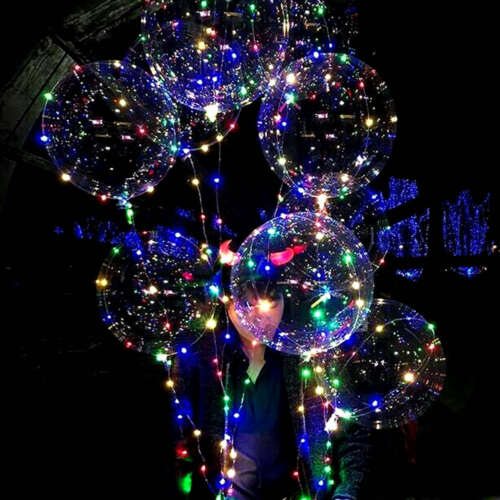 """18/"""" LED String Light Up Clear  Balloon Rave Christmas Wedding Birthday Party !!!"""