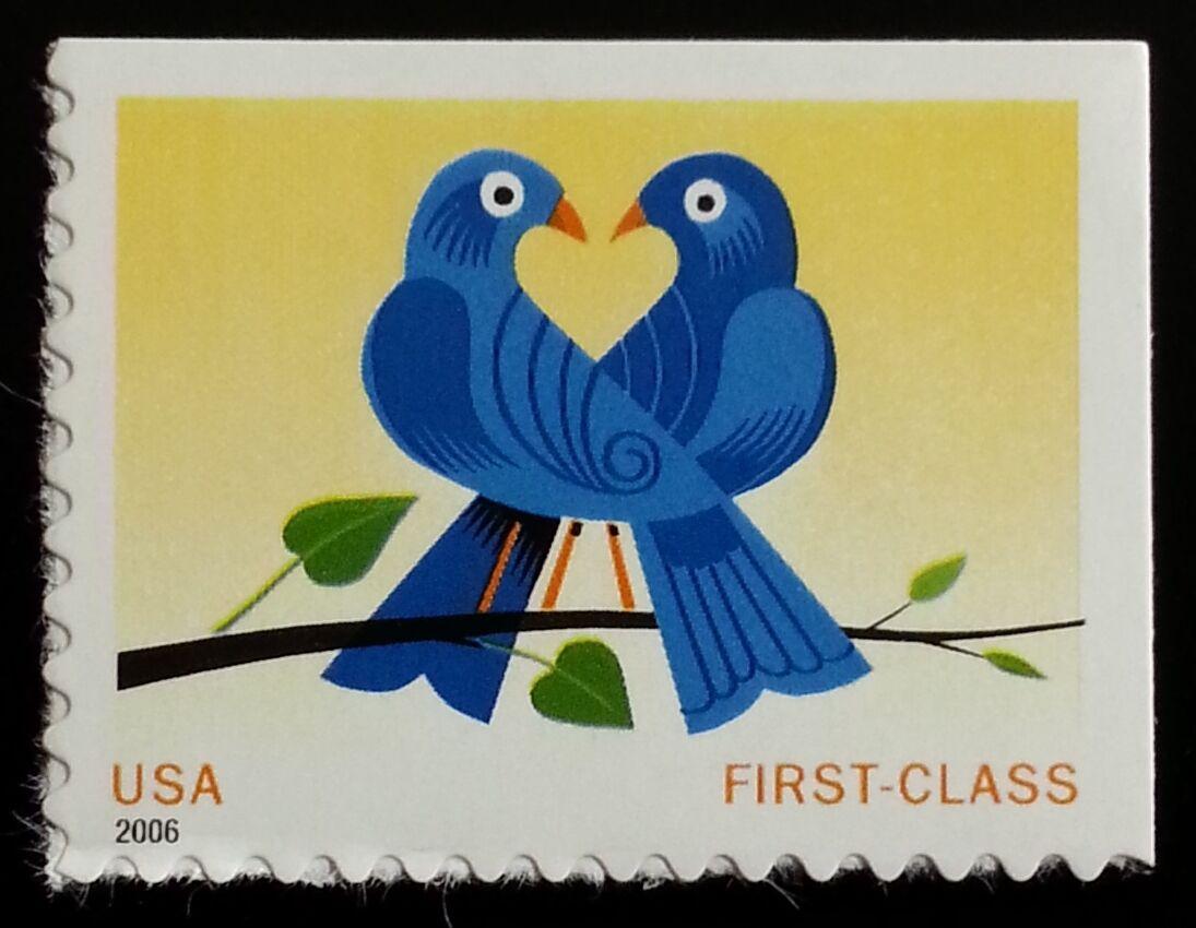 2006 39c Two Lovebirds True Blue Special Issue Scott 39