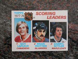 1978-79-TOPPS-HOCKEY-CARD-65-SCORING-LEADERS-LAFLEUR-TROTTIER-SITTLER-NM