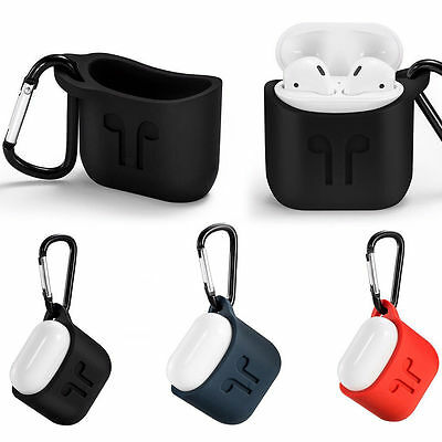 For AirPods Case Protective Silicone Charging Cover Hang Pouch Case Skin Sleeve