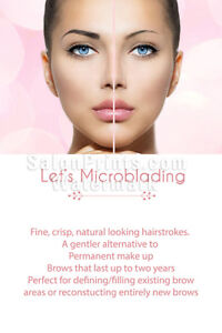 Perforated Mesh One Way Vision See-Through Window Mesh Vinyl Sign NAILSIGNS.com Permanent XXII Microblading Eyebrows Service Makeup Sign Advertising Marketing D/écor Vertical Outdoors , 72