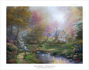 Thomas-Kinkade-Studios-A-Mother-039-s-Perfect-Day-18-x-24-SN-Limited-Edition-Paper