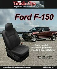2015 2016 2017 2018 F 150 Xlt Supercrew Black Leather Seat Covers Lariat Design