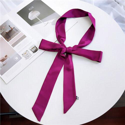 "Women/'s Elegant Vintage Long Scarf Solid Print Stylish Ribbon Scarves Tied 76/"""
