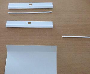 10 x lamellenhalter zum k rzen lamellenvorhang vertikal jalousie rollo wei neu ebay. Black Bedroom Furniture Sets. Home Design Ideas