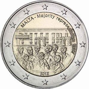 Malta-2-Euro-2012-Mehrheitswahlrecht-Gedenkmuenze-bankfrisch-Historia-Hamburg