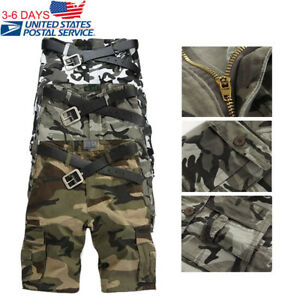 Cargo Army Pants Summer Cool Trousers Baggy Combat Men Shorts Outdoor Military