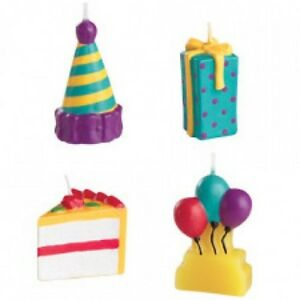 Image Is Loading Wilton PARTY TIME Birthday Cake Candles Present Balloons