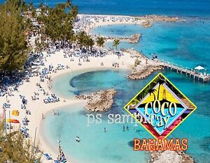 Image Is Loading Bahamas Coco Cay Beach Travel Souvenir Flexible Fridge