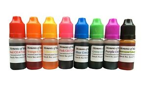 10mL-Soap-Making-bath-bomb-cosmetic-colours-water-based-dyes-13colours-to-choose