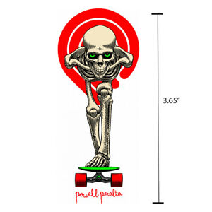 Powell-Peralta-Tucking-Skeleton-Die-Cut-White-Skateboard-Sticker-Decal-3-65-034-New