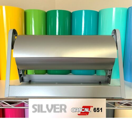 Oracal651 SILVER Glossy Vinyl Roll for decals cutter crafts free shipping