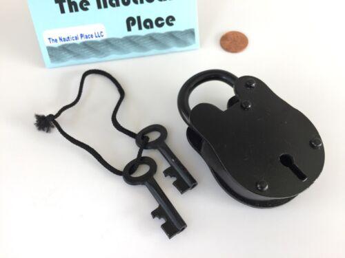 Iron Lock /& Keys ~ Old Vintage Antique 1800s Style ~ Police Jailer Padlock