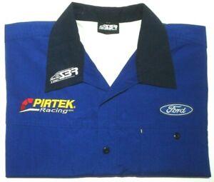 FORD-PIRTEK-SIZE-XXL-STONE-BROTHERS-RACING-SHIRT-BLUE-W-POCKET-FREE-POSTAGE