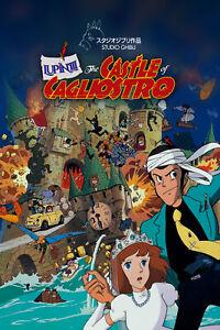 The Castle of Cagliostro 35mm Film Cell strip very Rare var_e