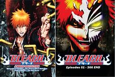Bleach Complete Collection (Episodes 1-366 End) + 4 Movies DVD English Version