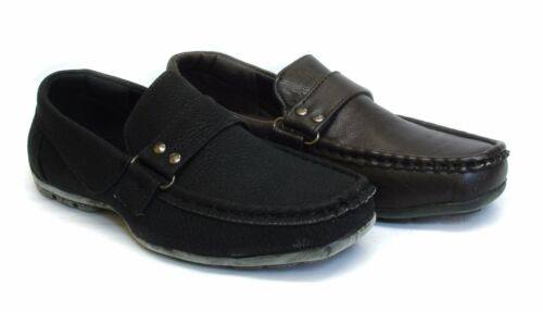 Kids Boys Formal Loafers Slip On Moccasins Wedding Back To School Shoes UK Size