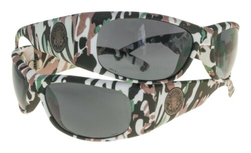 NEW Black Flys Sunglasses FLY BALLISTIC WHITE CAMO Smoke LENS LIMITED SAFETY