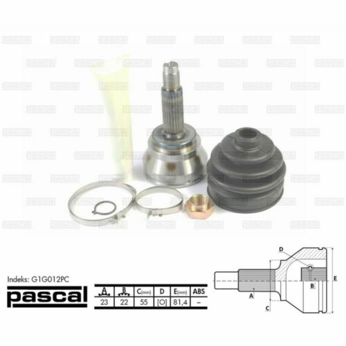 Antriebswelle PASCAL G1G012PC Gelenksatz