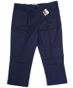 Cutter-amp-Buck-Navy-Blue-Pleated-Front-Casual-Pants-48-X-42-Tall-Men-039-s-NWT