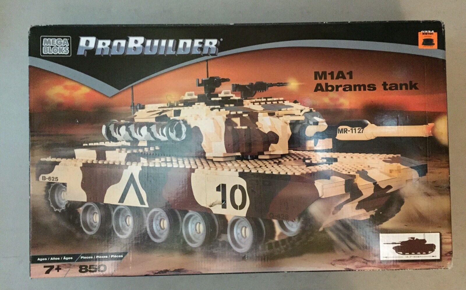 Mega Bloks Probuilder M1A1 Abrams Tank Set 9734 Brand New Sealed 2003