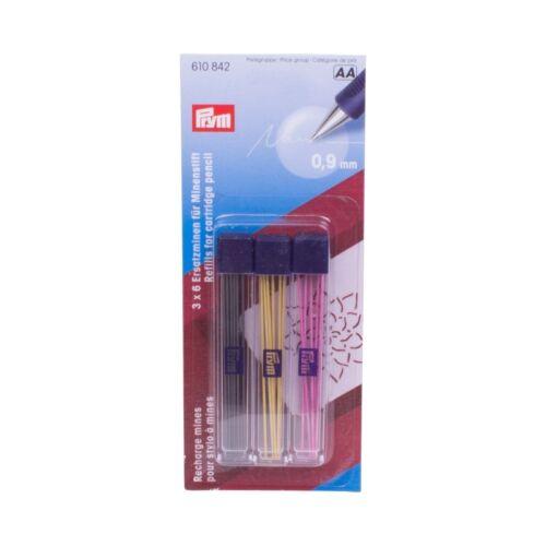 Prym 3x6 minas de repuesto para minas lápiz extra fino #7495