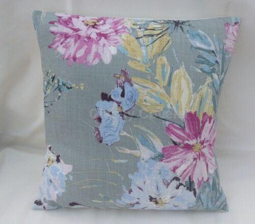 Laura Ashley Designer Cushion Cover COSMOS GREY GREEN Fabric Various Sizes