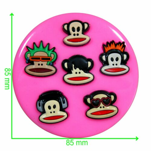 Designer Monkeys Silicone Mould by Fairie Blessings