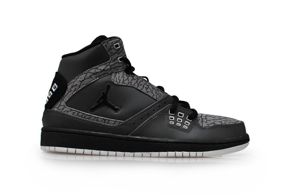 Mens Nike Jordan 1 Flight  - 372704 019 - Dark Grey Black White Green Trainers