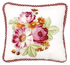Room Seven Kissen mit Füllung gefüllt Lynn Blumen bestickt  30 x 30 cm