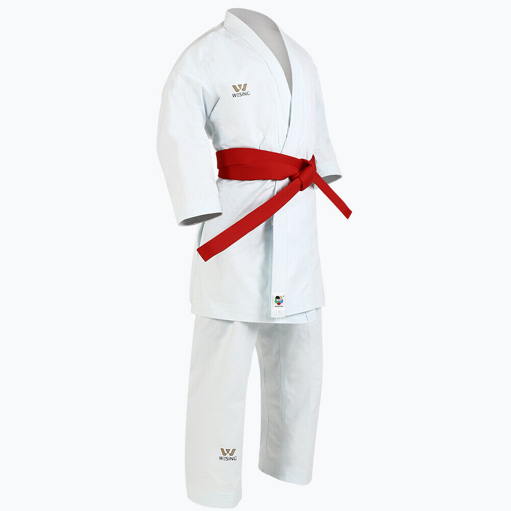 WESING Karate Uniform KATA Clothing  with Belt white color Approved by WKF  clearance