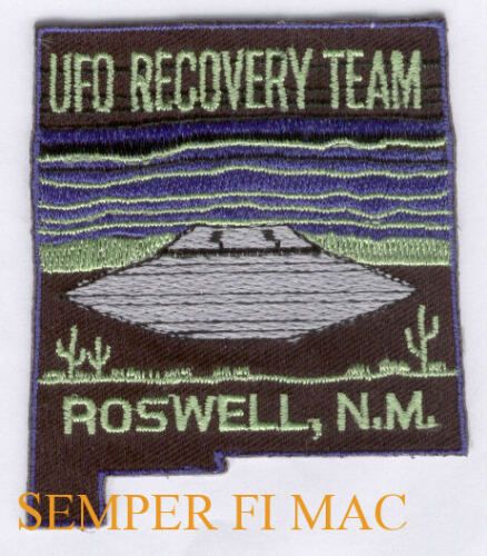 UFO RECOVERY TEAM ROSWELL NM HAT PATCH AREA 52 ALIEN WING PIN UP NASA SPACE WOW