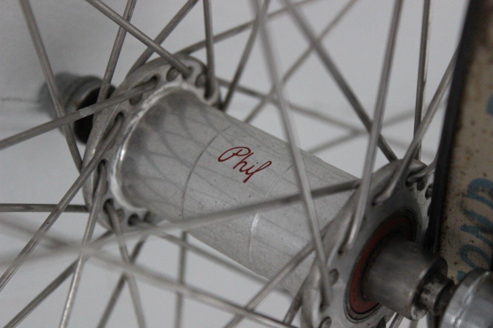 Phil Wood 40h Hubs Laced to 700c Aluminum Rims 100mm 130mm Road Bike Woods Wheel