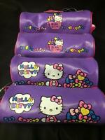 Lot Of 4 Hello Kitty Sanrio Pencil/makeup Bags/cases Free Shipping