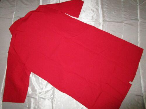 "Unisex Butcher Coat Snaps 3 pocket /& side Vents 44/"" Length Red Size 5X"