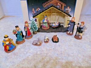 1996-Lemax-Village-Collection-Nativity-Set-of-11-MINT