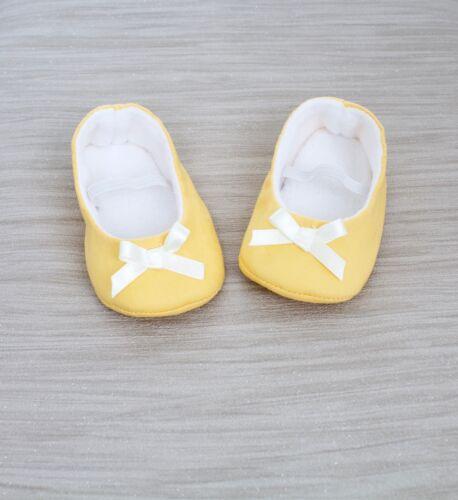 Chaussures de bébé filles Chaussures de bébé Bébé Fille Chaussure en coton jaune Ballerines.