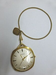ADORA-Vintage-Frackuhr-Handaufzug-Taschenuhr-mit-Kette-vergoldet