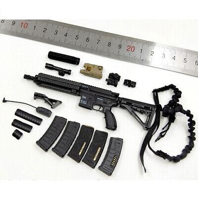 """MINITIMES 1//6 Scale Weapon Set HK416 Black Gun Model Toy Fit 12/"""" Action Figure"""