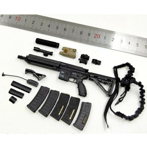 "Minitimes toys M016 1//6 Scale LAPD SWAT HK416 Set Model For 12/"" Figure"