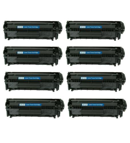 8 PK NON-OEM TONER CARTRIDGE HP Q2612X LASERJET 3020 3030 3050 3052 3055 M1319F