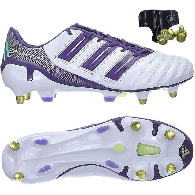 Adidas ADIPOWER PREDATOR XTRX SG football boots trainers white purple gold  NEW 16213922d