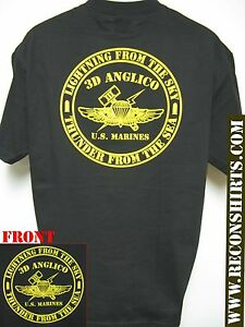 3rd anglico t shirt military usmc new black thick t for T shirt manufacturers in turkey