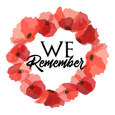 Lest We Forget Remembrance Day Sticker Poppy Flower Decal Car
