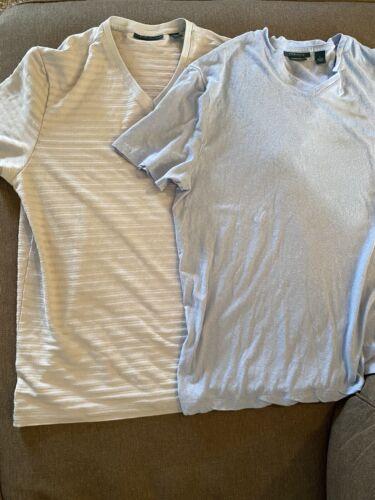 Perry Ellis men's lot of two large vneck shirts
